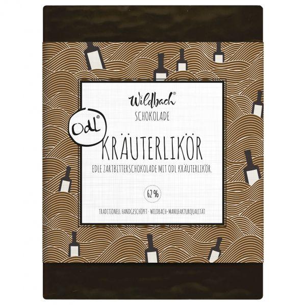 "Zartbitterschokolade mit ""Odl"" Kräuterlikör 62%"