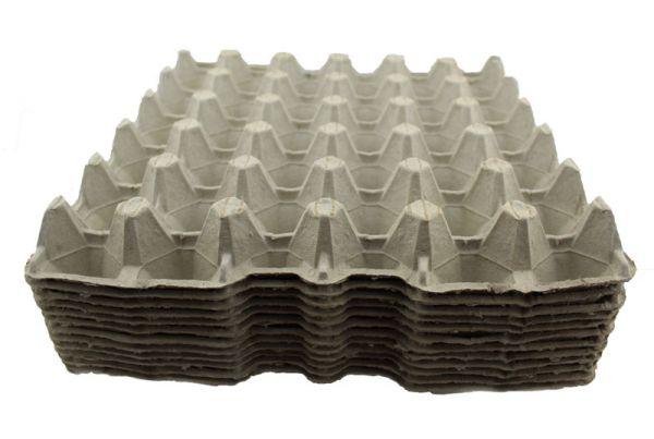 154 Stück 30er Höckerlage / Eierpappe Größe M stabil grau