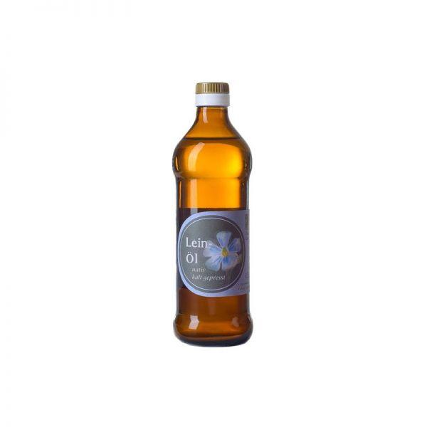 Leinöl, kaltgepresst, nativ und mild-nussig 0,25l