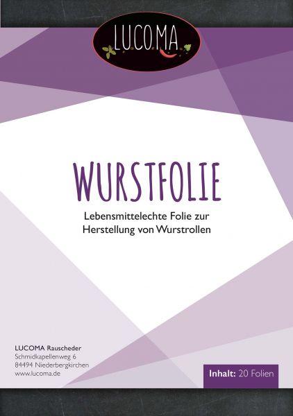 Wurstfolie - Spezielle Folie zur Herstellung von Wurstrollen 20 Blatt