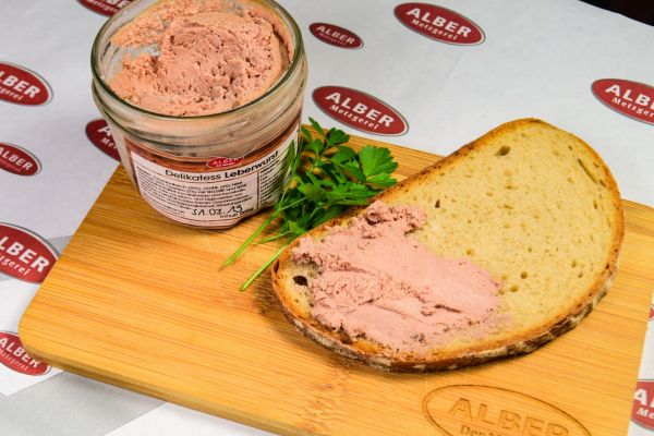Delikatess Leberwurst im Glas