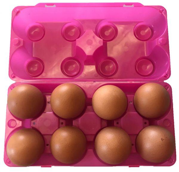 BIO Naturland 8er mit EggPlay Spielzeug-Schachtel