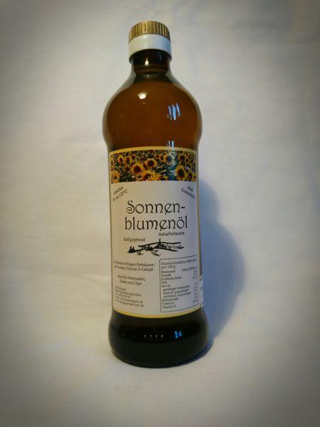 Sonnenblumenöl kaltgepresst & naturbelassen 0,5l