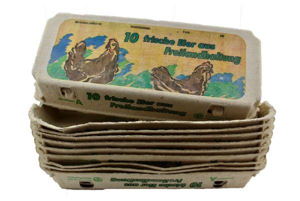 308 Stück 10er Eierschachteln mit Aufdruck Freilandhaltung S-L